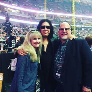 @genesimmons having a great time with Express Furniture Rental owners Don and Debi Chance last night! #WEAREONE