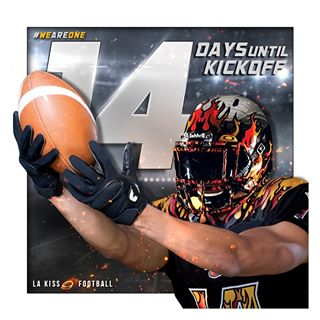 14 days until we do this for real!! Get a sneak peek of your 2016 #LAKISSFOOTBALL team today at our FREE intrasquad scrimmage! Gates open at 10:30 am PST at @hondacenter! #WEAREONE