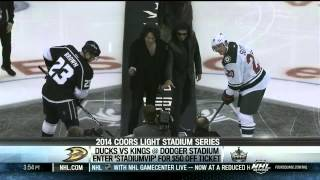 KISS - Puck Drop at LA Kings Game