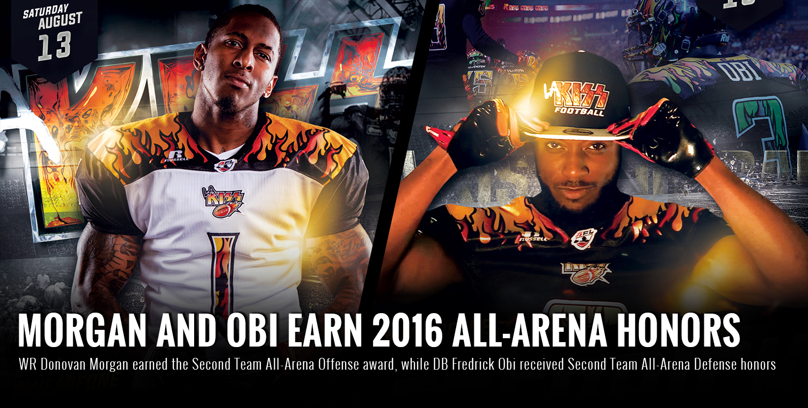Morgan and Obi Earn 2016 All-Arena Honors